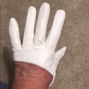 Small white half gloves